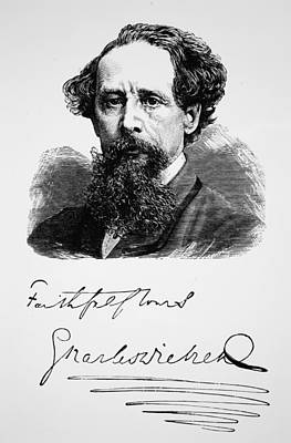 Charles Dickens Print by English School