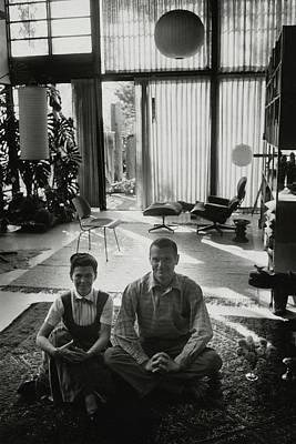 Cross Legged Photograph - Charles Eames And Ray Eames by John Bryson