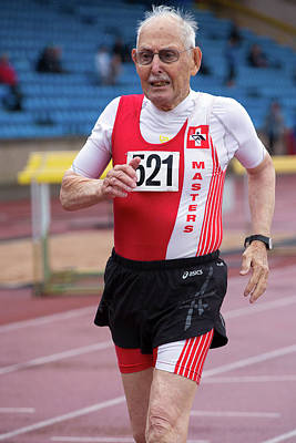 Aging Photograph - Charles Eugster 95 Senior British Athlete by Alex Rotas