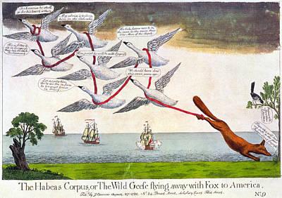 Charles Fox: Cartoon, 1782 Art Print by Granger