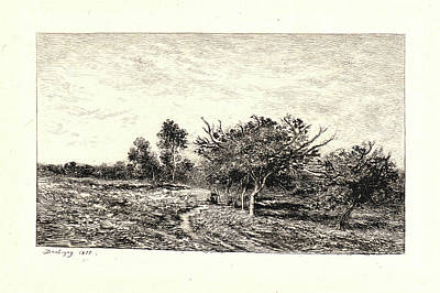 Charles François Daubigny French, 1817 - 1878. Apple Trees Print by Litz Collection