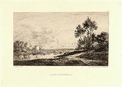 Charles François Daubigny French, 1817 - 1878. La Seine à Art Print by Litz Collection