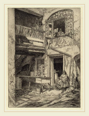 Charles Henry White, An Old Courtyard New Orleans Art Print by Litz Collection