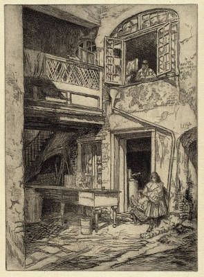 Charles Henry White, An Old Courtyard New Orleans Art Print by Quint Lox