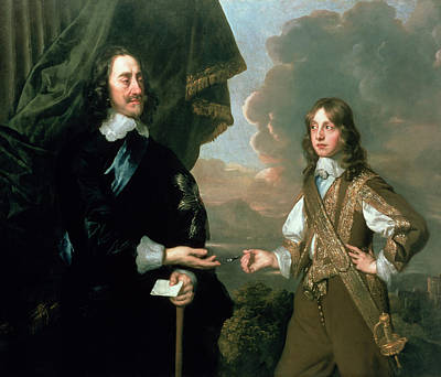 Sir Charles Painting - Charles I And James, Duke Of York by Sir Peter Lely