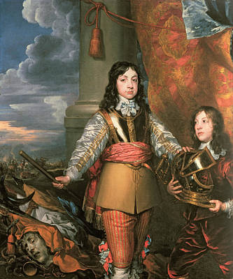 Talisman Photograph - Charles II As Prince Of Wales With A Page, C.1642 Oil On Canvas by William Dobson