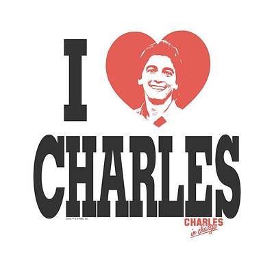 Charles Digital Art - Charles In Charge - I Heart Charles by Brand A