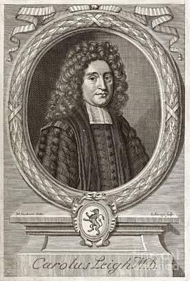 Charles Leigh, English Physician Art Print