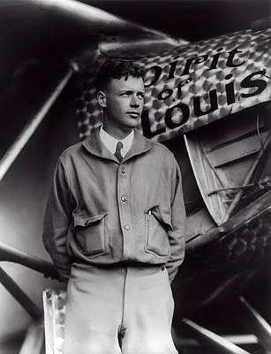 Bolling Photograph - Charles Lindbergh  1927 by Daniel Hagerman