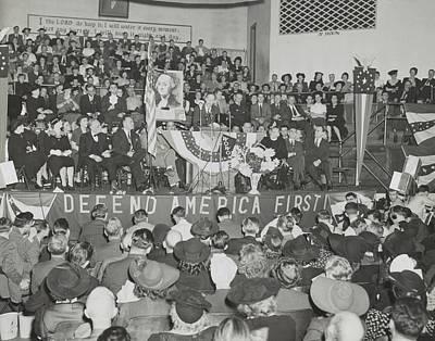 Washington Indiana Photograph - Charles Lindbergh Addresses 3,000 by Everett