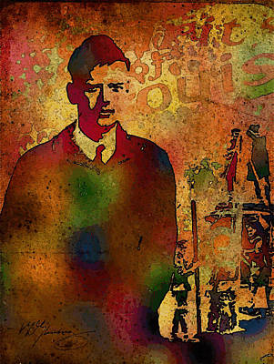 Painting - Charles Lindbergh And Spirit Of St Louis by Dean Gleisberg