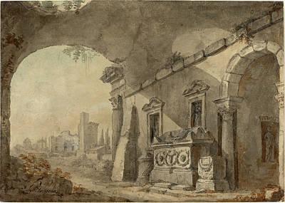 Charles Louis Clérisseau, French 1722-1820 Art Print