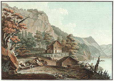 Old Barn Drawing - Charles-melchior Descourtis French, 1753-1820. House by Litz Collection