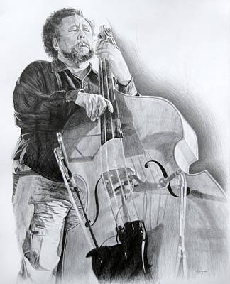 Drawing - Charles Mingus by Michael Morgan