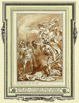 Charles Monnet, Perseus Turning Phinneas To Stone Art Print by Litz Collection