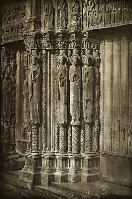 French Door Drawing - Charles Nègre, Chartres Cathedral by Quint Lox