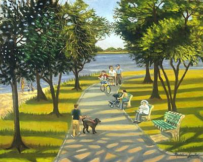 Painting - Charles Park by Madeline  Lovallo