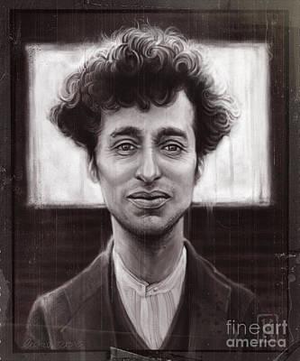 Chaplin Digital Art - Charles Spencer Chaplin by Andre Koekemoer