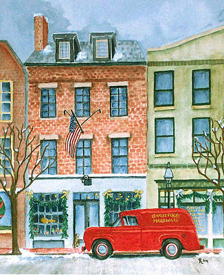 Old Store Front Painting - Charles Street Hardware by Rhonda Leonard