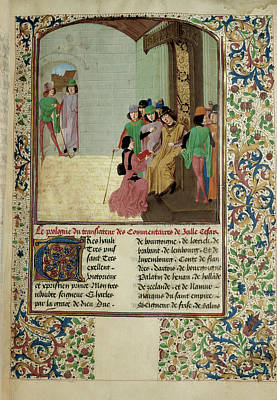 Charles The Bold And Author Print by British Library