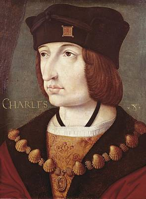 Wood Pendant Photograph - Charles Viii Of France 1470-1498 by Everett