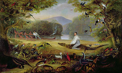 Charles Waterton Capturing A Cayman, 1825-26 Art Print by Captain Edward Jones
