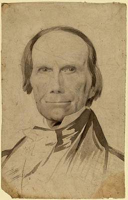 Clay Drawing - Charles Wesley Jarvis, Henry Clay, American by Quint Lox