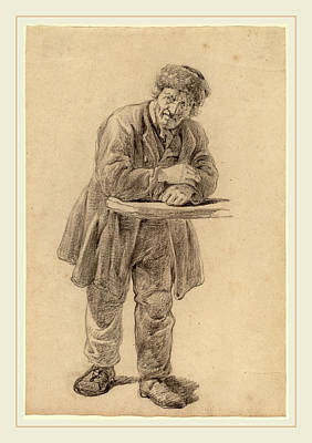 Wesley Jarvis Drawing - Charles Wesley Jarvis, Man Leaning On A Counter by Litz Collection
