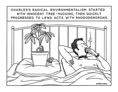 Charles's Radical Environmentalism Started Art Print by Alex Gregory