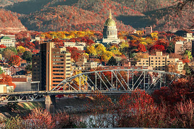 Charleston And Wv Capitol Art Print