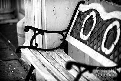 Southern Comfort Photograph - Charleston Bench by John Rizzuto