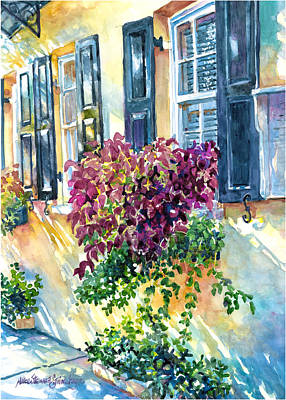 Charleston Houses Painting - Charleston Bouquet by Alice Grimsley