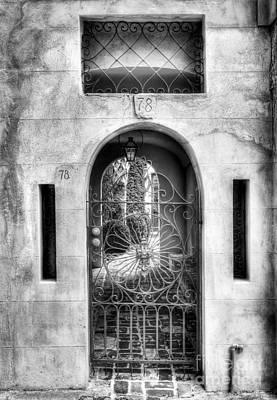 Photograph - Charleston Charm 6 Bw by Mel Steinhauer