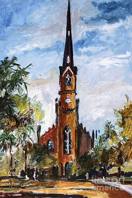 Painting - Charleston Churches St Matthews German Lutheran by Ginette Callaway