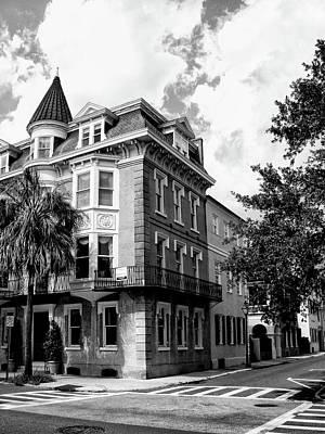 Crosswalk Photograph - Charleston Corner Charleston Sc by William Dey