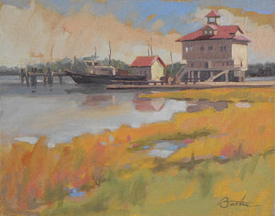 Charleston Houses Painting - Charleston Dock by Todd Baxter
