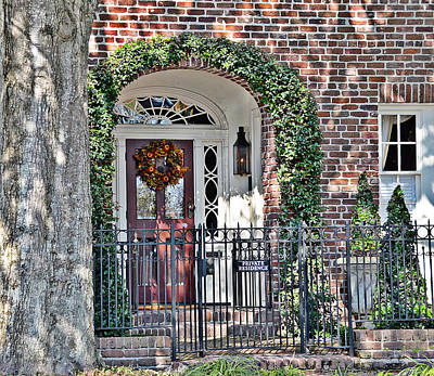 Photograph - Charleston Doorway by Linda Brown