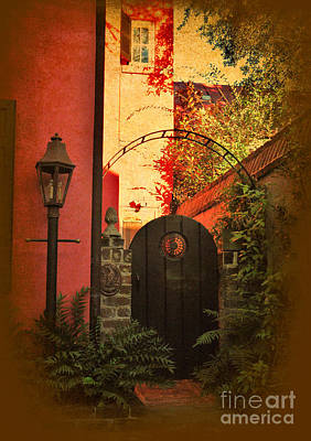 Photograph - Charleston Garden Entrance by Kathy Baccari