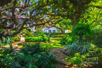 Charleston Sc Gardens Art Print by Dale Powell