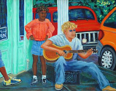 Charleston Guitar Man 11x14 Original