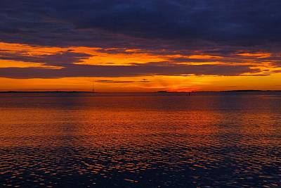 Photograph - Charleston Harbor At Sunrise by Steven Richman