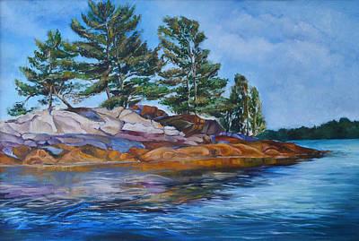 Canadian Culture Painting - Charleston Lake  by Julia Pankova