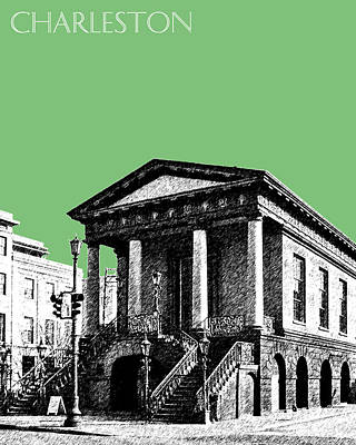Charleston Market Building - Apple Art Print