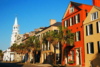 Charleston Painted Row Art Print