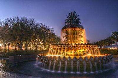 Photograph - Charleston Pineapple Fountain by E Karl Braun