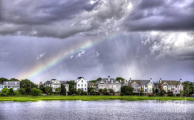 Charleston Rainbow Homes Print by Dustin K Ryan