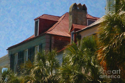 Digital Art - Charleston Rooftop by Dale Powell