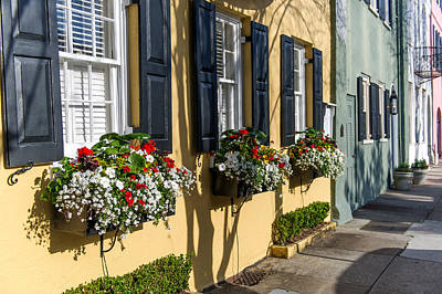 Charleston Sc Rainbow Row Art Print