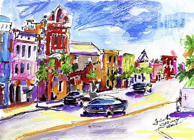 Painting - Charleston South Carolina Kind Street by Ginette Callaway