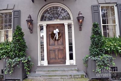 Photograph - Charleston South Carolina Victorian Homes - Charleston French Quarter Doors by Kathy Fornal